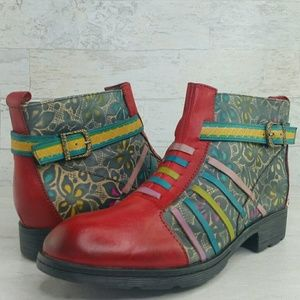 SOCOFY Women's Size 40 or 9 Ankle Boots Vintage